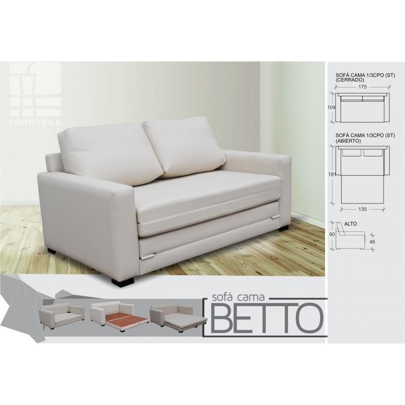 Sofa cama betto frontera living muebles 365 for Sofa cama 2 plazas oferta