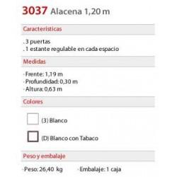 Alacena 1.20 mts. 3037 - Platinum