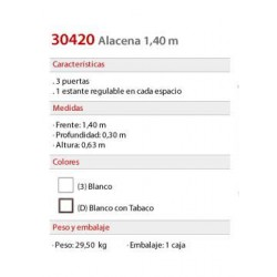 Alacena 1.40 mts. 3042 - Platinum