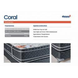 Conjunto Sommier Coral 1.60x2.00m - Deseo Confort