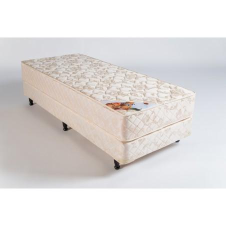 Conjunto Sommier Sueño Dorado 0.80m x 1.90m - Deseo Confort