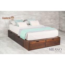 Box Multifunción Milano - Dadone HDH (Respaldo, mesas de luz y colchón no incluidos)