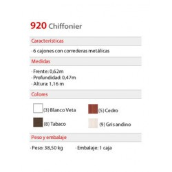 Chiffonier 920 - Platinum