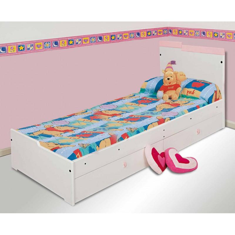 Cama infantil laurina 1 plaza ricchezze muebles 365 for Precio de cama de 1 plaza