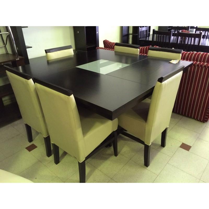 Mesa euro base central x patria muebles muebles 365 - Mesas comedor cuadradas ...