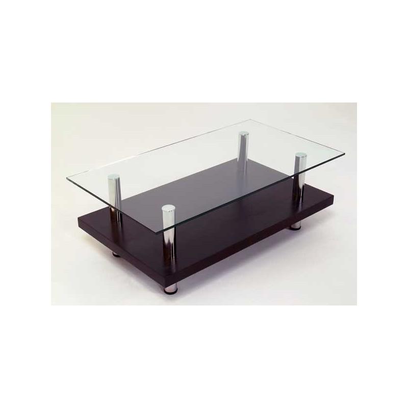Mesa de living cromada con vidrio adamobili muebles 365 for Mesas de living