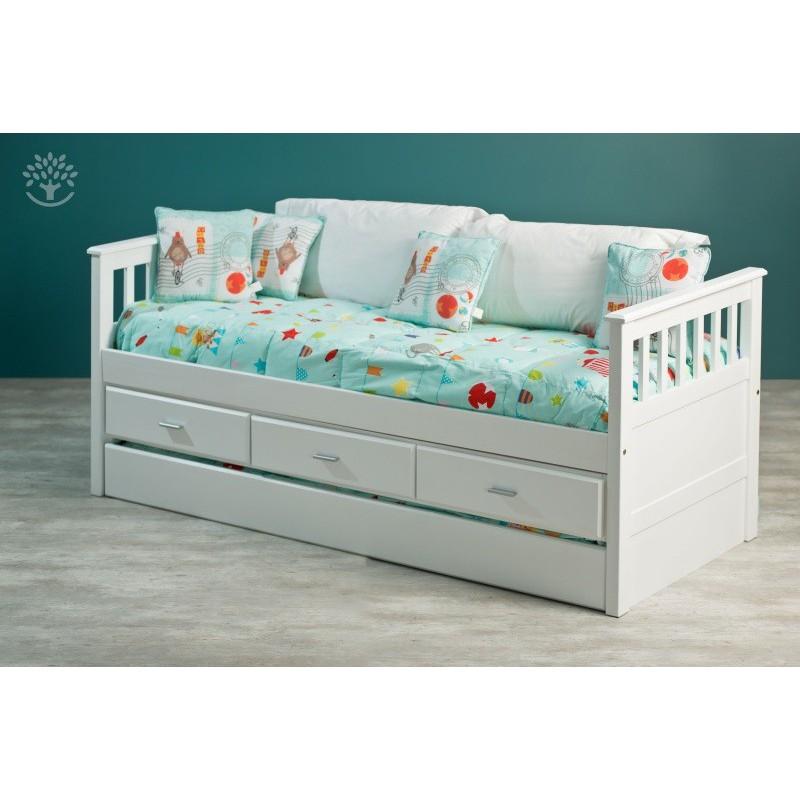 Div n cama java c cajonera y cama marinera color blanco for Modelos de divanes