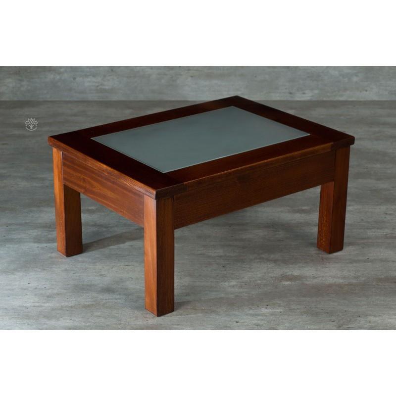 Mesa ratona montecatini rectangular dadone hdh muebles 365 for Mesa de vidrio rectangular